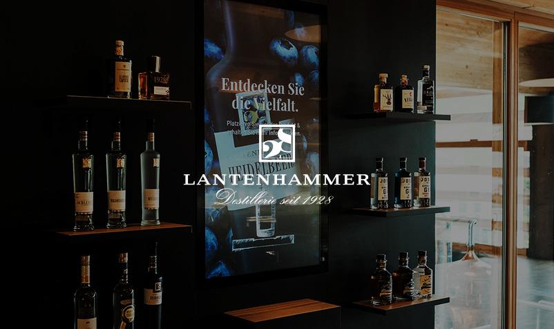 Digital Signage Lantenhammer Destillerie